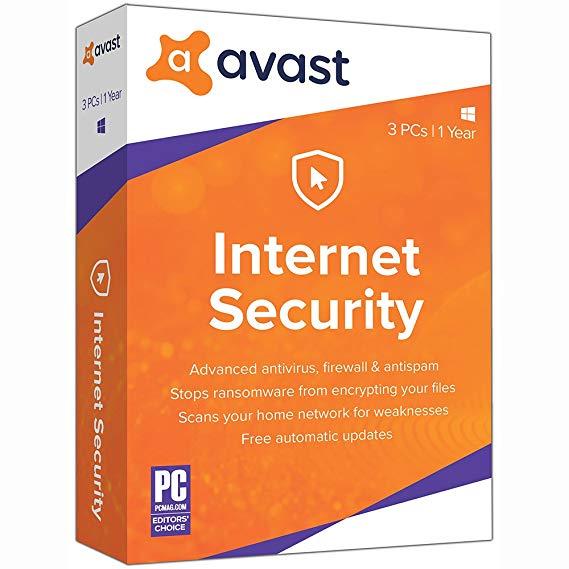Amazon.com: Avast Internet Security 2019, 3 PCs 1 Year [Key Card]