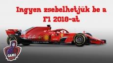 Ingyen zsákolhatjuk be a F1 2018-at